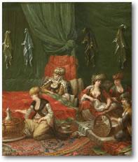 Detail uit: Kraamkamer van een voorname Turkse vrouw