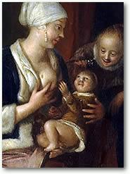 Detail uit: Een moeder die haar kind de borst geeft
